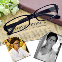 Wholesale fashion Unisex Black Frame DJ Clear Lens Nerd Skater Polite eye Glasses