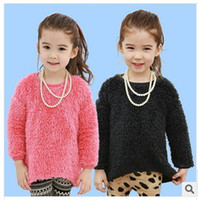 Wholesale Girl long sleeve princess sweater coat girls fashion wollen sweater baby Pullover little girl coat Children s Sweaters