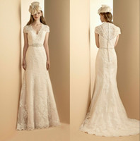 Gothic 2013 Elegant Garden Vintage Wedding Dresses With Sash...