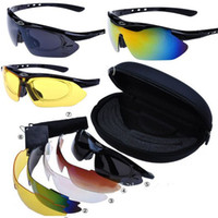 Wholesale 1set Cycling Riding Bicycle Bike UV400 Sports Sun Glasses Eyewear Goggles Lens JA04001