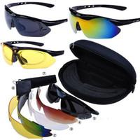 Driving Semi-Rimless Man 1set lot Cycling Riding Bicycle Bike UV400 Sports Sun Glasses Eyewear Goggles + 5 Lens [JA04001]