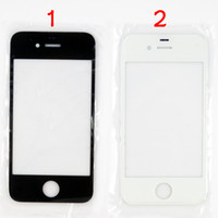 Wholesale For iPhone S Front Outer Glass Lens Screen Digitizer Touch Panel Screen Cover Black White For iPhone4 S G MOQ