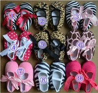 Wholesale New style Chrismas Infant Walking Shoes ribbon tie crib shoes Ribbon tie crib shoes Baby First Walker Shoes Children s Shoe T pairs