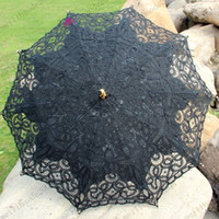 victorian parasol - wedding handmade ivory cotton SUN BATTEN victorian LACE PARASOL UMBRELLA MYY6375