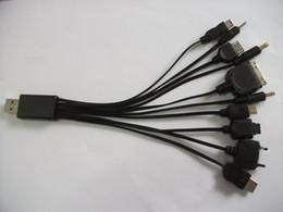 Nuevos multi 10 libres en 1 cargador de múltiples funciones universal del cable del USB del juego del teléfono celular del usb