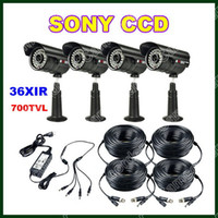 Wholesale 4X TVL x IR Sony CCD Indoor Outdoor Night Vision Securit Camera x ft M Video Power Cable