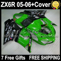 7gifts+ Tank Cover Fairing Kit Factory green For KAWASAKI NIN...