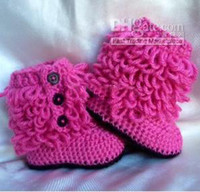 Unisex Summer Fur winte new ugg knit boots ! crochet baby booties !red snow boots .shoes shop .baby wear.china shoes .cheap shoes.hot sale.9pairs 18pcs