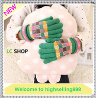 Wholesale 15Pairs Fashion Thicking Knitting Wool Warm Gloves With Cute Pattern For Women s Chirstmas Gift