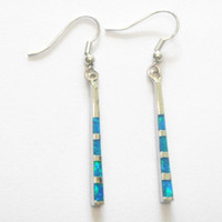 Wholesale newest fashion opal earring Mexican Opal earrings stamped ES601K