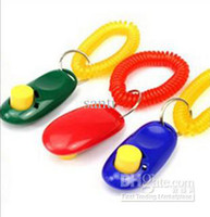 Wholesale I Click Dog Pet Click Clicker Training Trainer Aid Wrist Strap Obedience Agility