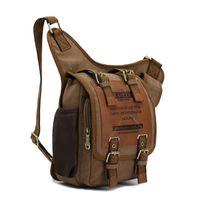 Wholesale Irregular style new vintage casual canvas bag men messenger bag man cross body shoulder bags women