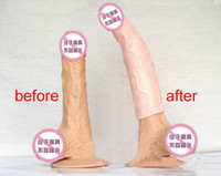 Cheap Penis Extensions Silicone Extender Cock Extend Sleeve Condoms Enlargers Realistic Penis Sleeves Enlargement Condom Extend 6cm Adult Sex Toys
