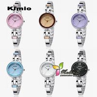 Casual Women's Square 5pcs lot Kimio watches bracelet 2012 ,Japan Quartz Movement Stainless Steel Crystal wrist Watch