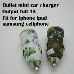 New Arrival Colorful USB Car Charger full 1000mAh Auto Power Adapter For Iphone 4 4S Mini Universal Car Charger For Mobile Phone 100pcs