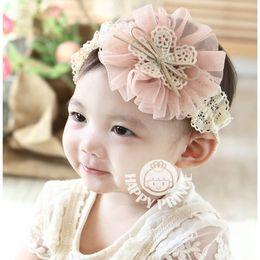 Wholesale shabby flower Hot sale Fashion Bowknot Headbands Baby Headbands Childrens Hair Accessories cloth Gauze flower