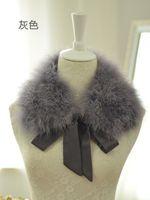 Wholesale Korean version of the square collar American ostrich turkey fur collar fur collar fur collar small square collar decoration