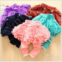 Wholesale Hot sale Children s Leggings amp Tights baby Girl Leggings yarn tutu skirt pants pink blue