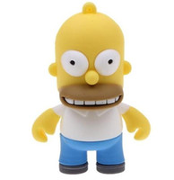 Wholesale The Simpsons Homer Simpson Shaped GB GB GB GB USB Flash Drive Memory Stick Key