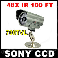 Wholesale 700TVL SONY CCD Effio LED IR Night Vision OSD MENU CCTV Outdoor Camera Weatherproof Wide Angle Vision