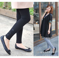 Wholesale maternity Korean pregnant women thin spring autumn leggings plus cotton pantyhose