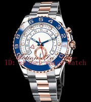 Wholesale Factory Seller New In Box Luxury AAA mm K Rose Gold amp Stainless Steel Men s Automatic Mechanical Movement Watch Mens WristWatches