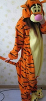 tigger - Tigger New Kigurumi Pajamas Anime Cosplay Costume unisex Adult Onesie Dress