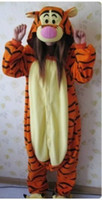 Wholesale Tigger tiger onesie pajamas pyjamas cosplay costume adult romper xmas