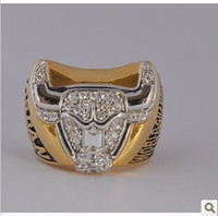 Wholesale Championship Rings Chicago amp Bulls Basketball CZ Gemstone Rings Silver Men s Ring k gold Fans Collectibles