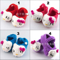 Wholesale Toddler Footwear Baby First Walker Shoes Hand Crochet Shoes Multicolour Soft Soled Casual Shoes First Walking Shoes Infant Knitted Shoes