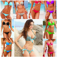 Women Bikinis Floral 9 Colors Styles Sexy Womens Bikini Collection Push Up Padded 2pcs Swimsuit Swimwear Bathing Suit S-M-L