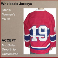 Wholesale Top Quality Brand new Athletic Jerseys Larry Robinson V Neck Red Color Men s Hockey Jerseys size Mix Order Discount