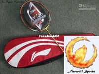 Wholesale Badminton Racket Original Li Ning WOODS N90 II LIMITED GOLD Serial Code Traceable racket case st