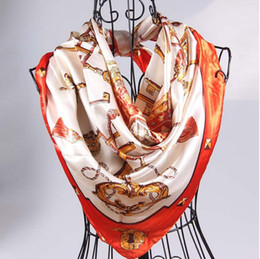 Luxury women girl silk scarves wraps kerchief hand towel 90X90cm colorful jewelry scarf Shawls Hijabs Bandanas Sarongs Christmas gifts sells