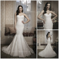 Garden Autumn/Spring Sexy Custom made sweetheart slim wedding dresses with zipper back gown long dress beads buttons fitted lace mermaid Bridal dresses JA 8683