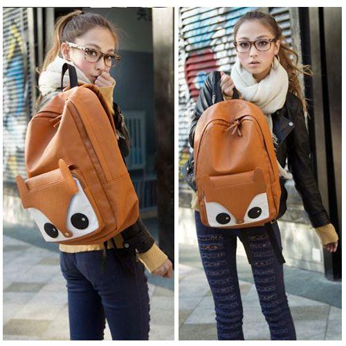 Women's Girls Exclusive Fox Backpack Handbag Shoulder Bag ...