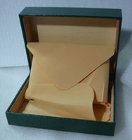 Wholesale Crown leather Dark Green JUST Watch Box Gift CASE wood Boxes BIGBANG007