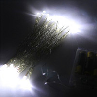 Wholesale New LEDs XAA Battery Mini LED Fairy String Garden Party Christmas Lights White Warm White Pink Purple Blue Muti Color