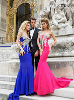 Wholesale 2013 Sexy Tarik Ediz One Shoulder Mermaid Prom Gowns Sweetheart Tassel Floor Length Satin Evevning Dresses