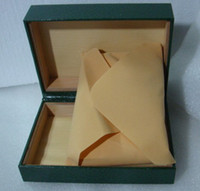 Wholesale dark Green Watch Box with logo Collection Boxes Gift Case fit JUSTSUB watches boxes by happy718