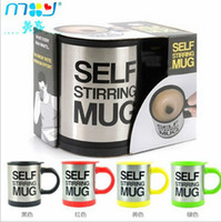 Wholesale automatic mixing cup with lid stainless steel electric mug zsj71