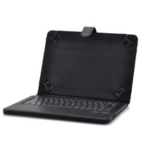 Universal Leather Keyboard Case Universal Bluetooth Wireless Keyboard Case for 9 to 10 Inch IOS + Android + Window Tablets - Bluetooth 3.0