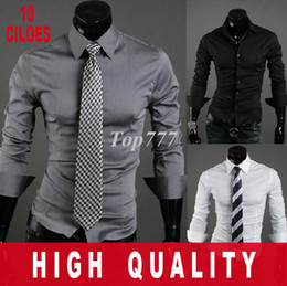 Wholesale Autumn sale Mens Fashion Cotton Designer Cross Line Slim Fit Dress man Shirts Tops Western Casual Long sleeve shirt Size M XXL