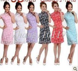 Wholesale 2013 the new lace cheongsam dress elegant fashion costume dress Seven kinds of color