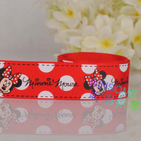 printed grosgrain ribbon - 10yards mm Red color fashion printed grosgrain ribbon