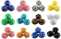 Wholesale 2013 Chunky mm Mixed Resin Rhinestones Ball Beads