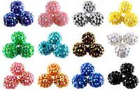 Wholesale 2013 Chunky mm Mixed Resin Rhinestones Ball Beads