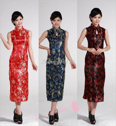Wholesale Welcome Formal Dress Women s Tang Suit Classic Long Qipao Phoeni The Dishui Chinese Style Cheongsam Tang suit s027