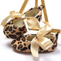 Wholesale Retail Newborn Baby Shoes Leopard grain color Kids baby First Walker Shoes KLZ X0006