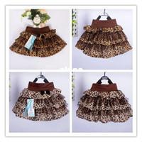 Wholesale pieces New Design children s skirt Girls leopard cake skirt color